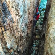 Rock Climbing Photo: Toproping Rafe's Chasm.