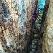 Rock Climbing Photo: Toproping Rafe's Chasm.