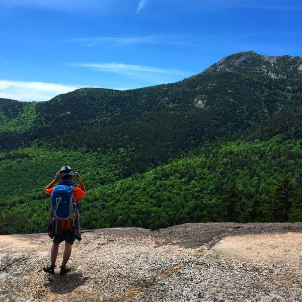 Rock Climbing Photo: View from the top of Carter ledge