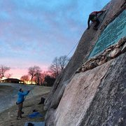 Rock Climbing Photo: Climbing at sunset.
