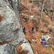 Rock Climbing Photo: View from the top of the crag.