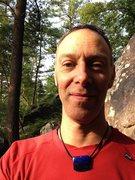 Rock Climbing Photo: Sid on Tumbled Rock Trail, West Bluff, Devil's Lak...