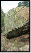 Rock Climbing Photo: Anathema's Grin problem beta.