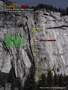 Rock Climbing Photo: Serenity-Sons Route Overlay
