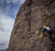 Rock Climbing Photo: Alabama Hills: Sharks Fin: East Face