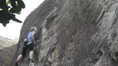 Rock Climbing Photo: Katie going back to school