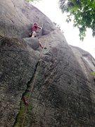 Rock Climbing Photo: Spider webs.