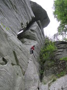 Rock Climbing Photo: The roof looms above