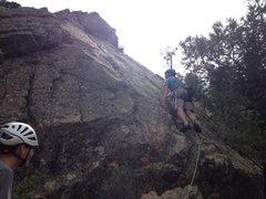 Rock Climbing Photo: Greg starts the battle.