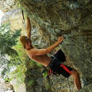 Rock Climbing Photo: Solid climb with a small fun, and easy over hang