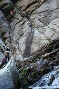 Rock Climbing Photo: Unique moves to get past the crux. Once you know t...