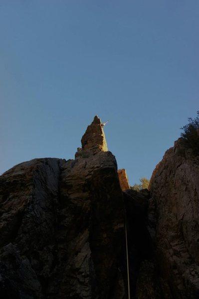 Rock Climbing Photo: Great exposure at the top