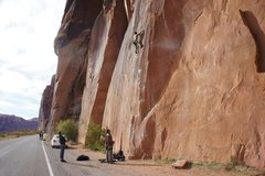 Rock Climbing Photo: Beautiful climb, slightly high first bolt like man...