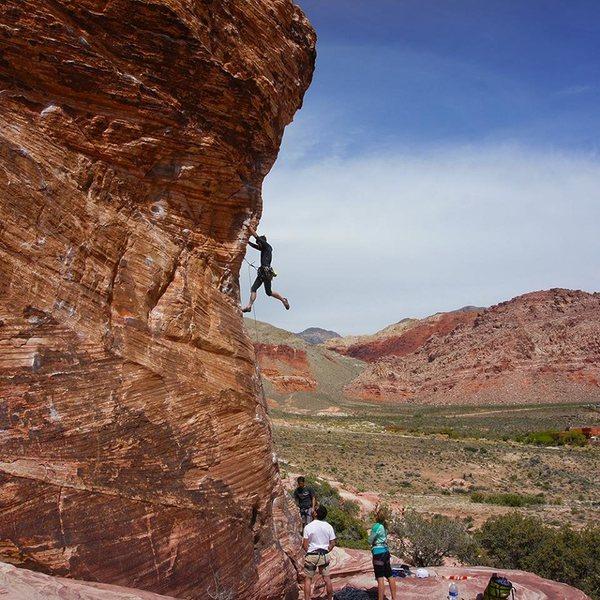 Rock Climbing Photo: Climbing the Cock