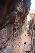 Rock Climbing Photo: Amazing dyno opportunity, however it can be skippe...