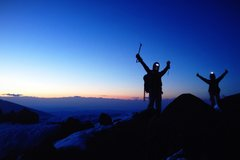Rock Climbing Photo: Sunrise summiters via the DC route