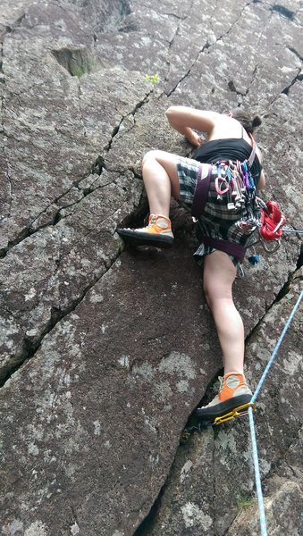 Rock Climbing Photo: Independence Day 5.7+