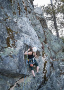 Rock Climbing Photo: The first mini-crux on Bigfoot's Backdoor. It ...