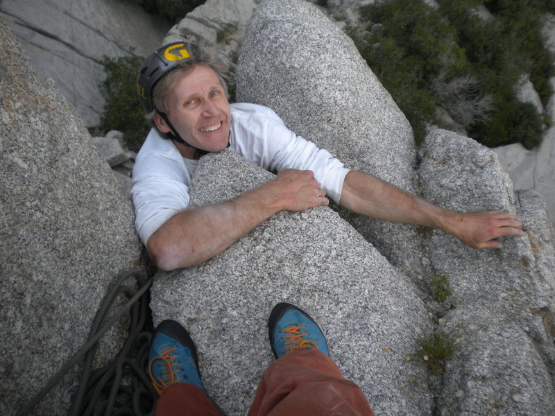 Rock Climbing Photo: Peter 'True Blue' Strazdins making the desperate t...
