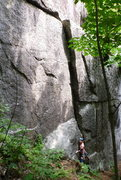 Rock Climbing Photo: left end of cliff, with a little off-width fairy h...