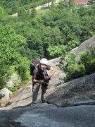 Rock Climbing Photo: Open Book Pitch Exit Cracks