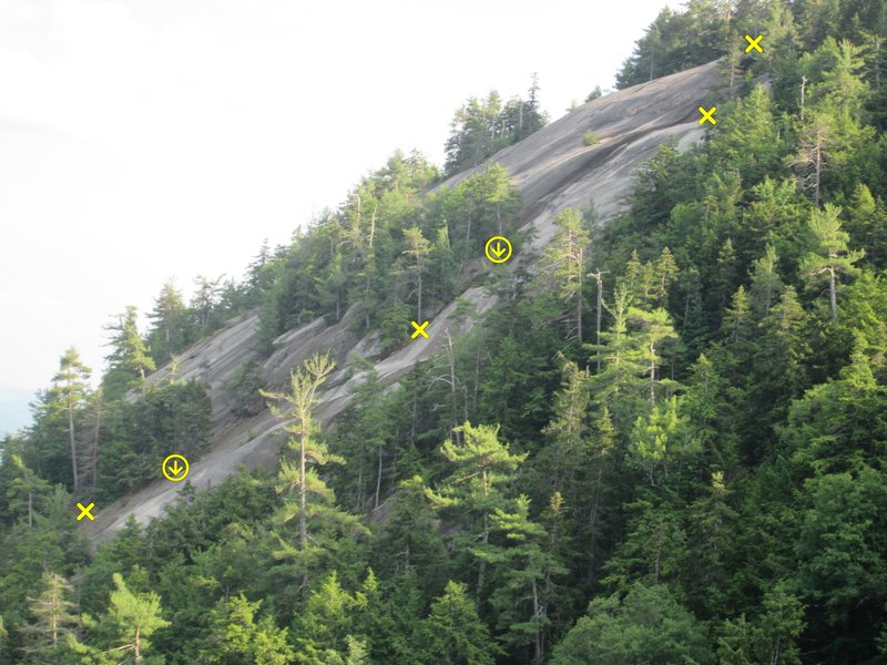 Upper 3 pitch's as seen from the Guides Wall