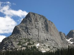 Rock Climbing Photo: The route from Lake Verna.