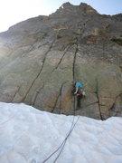 Rock Climbing Photo: Michael starting us off!