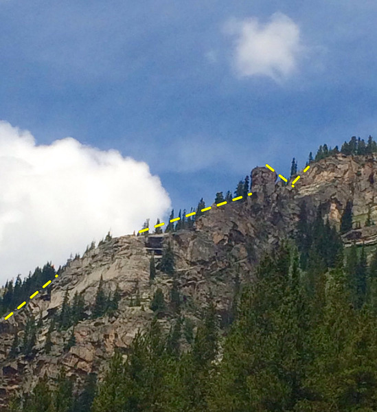 Rock Climbing Photo: El Diablo Oro climbs the sky line.
