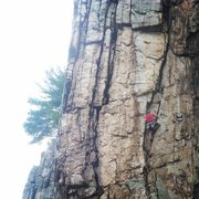 Rock Climbing Photo: just below the business on Agony
