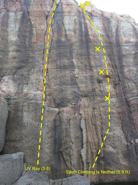 Rock Climbing Photo: Main Ledge Left