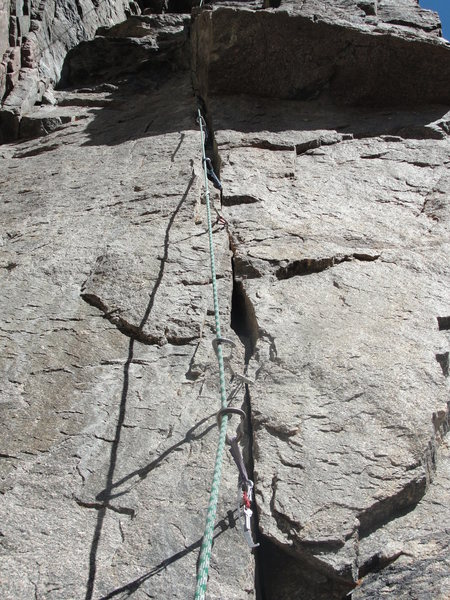 Rock Climbing Photo: First pitch crack.