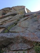 Rock Climbing Photo: View of the climb from the base - harder than it l...