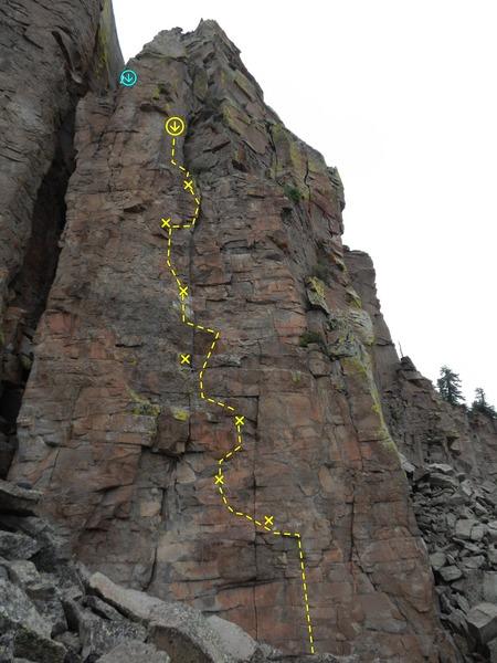 Rock Climbing Photo: Yellow = Revenge of the Rhodesian Flycatcher/  Blu...