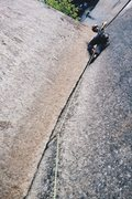 Rock Climbing Photo: Nik leading pitch two of Rattletale
