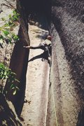 Rock Climbing Photo: Nik leading pitch three of Rattletale