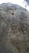Rock Climbing Photo: Beta photo.  The line follows the small corner jus...
