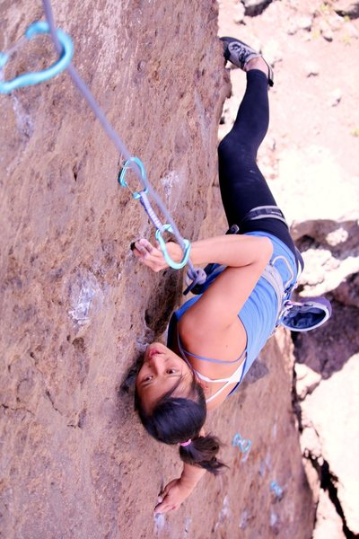 Rock Climbing Photo: Denise trying a lap on TR. Photo by Cameron Smith ...