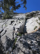 Rock Climbing Photo: Start of NE Face - East Variation The route starts...