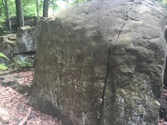 Rock Climbing Photo: Barb Rock.  North side of the Flakes.  Left of Hig...