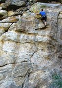 Rock Climbing Photo: Uncommon Valor ends with a brief section of burly ...