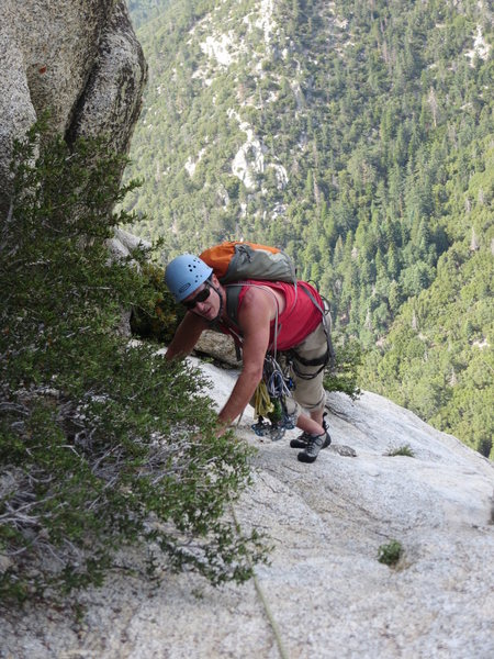 Rock Climbing Photo: Topping out on P6