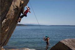 Rock Climbing Photo: Seaside granite near Quadra Island, BC