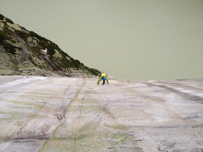 Magnificent slab climbing over the Raetterichsbodensee!