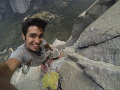 Rock Climbing Photo: Jesse below The Glowering Spot