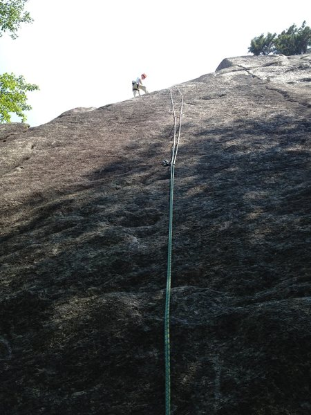 Rock Climbing Photo: At P.1 2 bolt rap anchor