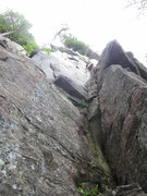Rock Climbing Photo: The route is the main corner system at photo right
