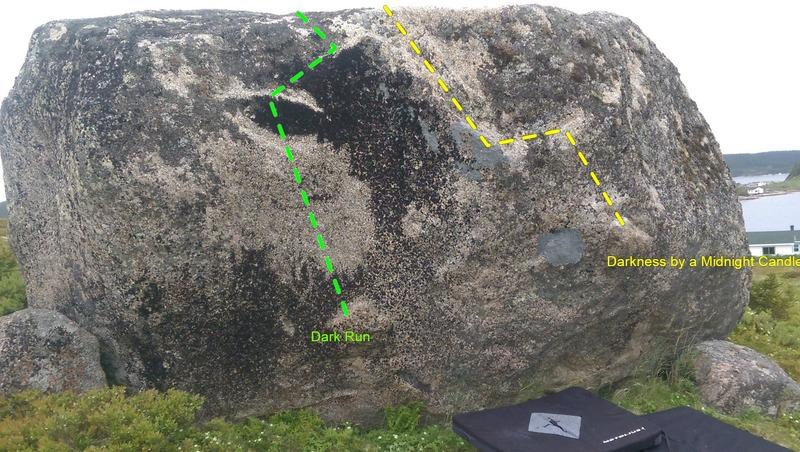 Rock Climbing Photo: Unfair boulder aka bog boulder