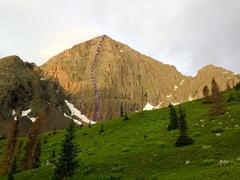 Rock Climbing Photo: Route topo.
