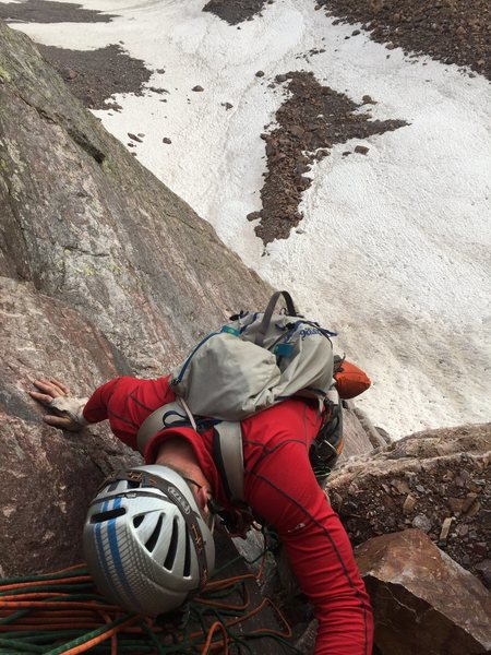 The top of pitch 1.